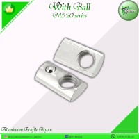 Subsquent Nut M5/ With ball M5/ Nut Aluminium profile 20 series