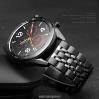 TALIJAM STAINLESS STEEL STRAP METAL BAND 7 BEADS HUAWEI WATCH GT 1 2