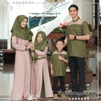 coupel gamis zalwa set keluarga/seragam baju muslim murah freehijab