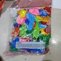 balon karet motif 12 inch isi 100 pcs grosir balon ulang tahun pesta