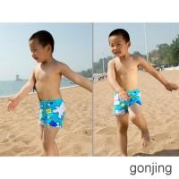 GONJING Celana Renang Anak Laki-laki Motif Kartun Warna Acak untuk