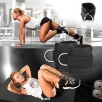 2pcs Ankle Strap Fitness Sports Adjustable Wrist Belt Cable