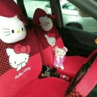 Sarung Jok Mobil AGYA / AYLA Motif HELLO KITTY