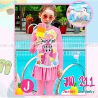 Baju Renang Anak Perempuan Set Swimwear + Armbands - D-UNICORN