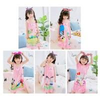BAju Tidur / Daster anak perempuan import pink - 5-PANDA,10