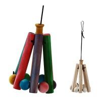 Mainan Ayunan Gantung Bahan Kayu untuk Kandang Burung Kakak Tua