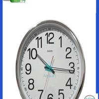 Jual Jam Dinding SAKANA 715 Warna Putih Chrome Ukuran 50 cm Murah