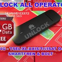 Modem USB 4G Huawei E3372 150Mbps UNLOCK ALL OPERATOR - BEST SELLER