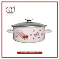 Chefina 20 Cm Panci Dutch Oven 4S STS w/ Glass Lid