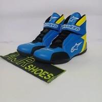 Sepatu drag Alpinestar New biru stabilo variasi tri M