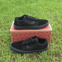 Sepatu Vans Old Skool Hitam Polos sepatu full black kasual sekolah