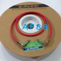 Kabel jumper efek gitar 80 cm jack gitar model pipih