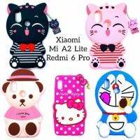 Case Karakter Boneka 3D Xiaomi Redmi 6 Prio Mi A2 Lite / Casing