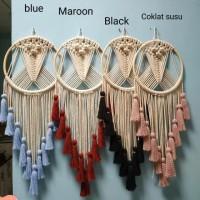 macrame gantungan dinding hiasan wall hanging tali rope anyaman rajut