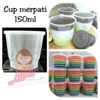 Cup gelas plastik 150ml FIM/Cup Puding/Cup Selai/Cup Slime/Cup Rujak