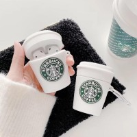 Starbucks APPLE Airpods 1 2 3 pro Case Cute White Soft Casing Silicon - AIRPODS 1 2