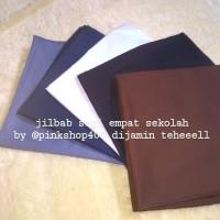 jilbab segi empat tebal / polino square / kerudung polos putih coklat