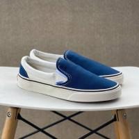 Sepatu Vans Slip On 98 DX Anaheim Factory Off White Navy Blue BNIB