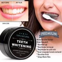 Charchoal Teeth Witening Powder Arang Pemutih Gigi Instan Permanen