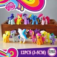 Topper Cake Figure My Little Pony Set isi 12 Kuda Poni Hiasan Kue