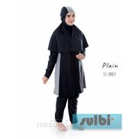 Baju Renang Muslimah Muslim Wanita Remaja Dewasa SULBI - Plain