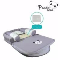 Omiland Kasur Bayi Lipat Oval Bumper + Kelambu Panda Series - OBK 5311