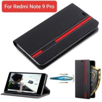 Flip Cover Case Xiaomi Redmi Note 9 Pro PU Leather