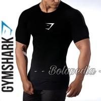 GYMSHARK BASELAYER PENDEK / baju gym manset kaos fitness Compression