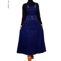 Gamis Overall Jeans Wanita Baju Kodok Jumpsuit