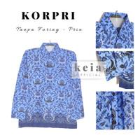 Baju Batik KORPRI (Tanpa Furing) PNS S-XXL - Pria, S