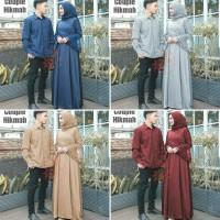 Baju Couple Muslimah/Gamis Pasangan Cp hikmah