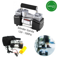 POMPA ANGIN BAN MOBIL TRUK MOTOR ELECTRIC COMPRESSOR DOUBLE CYLINDER
