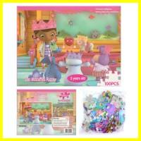 Mainan Anak Belajar Edukasi Doc Mcstuffins Menyusun Puzzle Game 100 pc