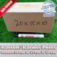 KARDUS BARU POLOS DI PEKANBARU | 20x15x10cm
