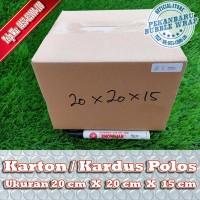 KARDUS BARU POLOS DI PEKANBARU | 20x20x15cm
