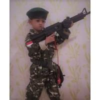 Baju tentara Kostrad anak Kostum profesi tentara Kostrad Loreng Tni