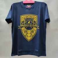 Baju Kaos Motif Borneo Khas Kalimantan - Biru Malam