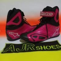 Terlaris Sepatu Drag-Touring Alpinestar Hitam Pink Mess Hitam Yangnew