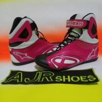 Terlaris Sepatu Drag-Touring Alpinestar K-Pro New Hitam Pink Baik