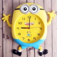 Jam Dinding Besar Lucu Wall Clock Karakter Minion Rilla Kuma Doraemon