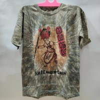 Baju Kaos Batik Kalimantan Motif Dayak - Abu Abu