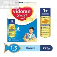 Susu Vidoran Xmart 1+ Rasa Madu/ Vanila 725 gram untuk usia 1-3 tahun.