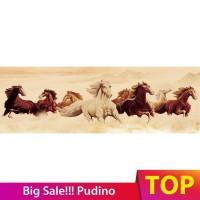 Lukisan Diamond 5D DIY Gambar Kuda Berlari Untuk Dekorasi Rumah