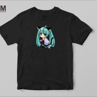 Kaos Baju T-Shirt Distro Anime Hatsune Miku P3273