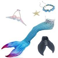 Mermaid baju renang dewasa dewasa putri duyung ekor jas membagi