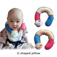 Rp99 Bantal Leher Bentuk U Motif Kartun untuk Bayi