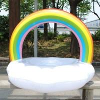 Pelampung Jumbo Model Rainbow Cloud Ring Ban Berenang Besar Bentuk