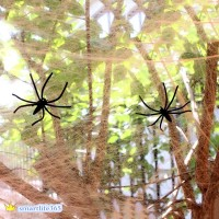 Cotton Yarn Spider Web Spit With Spider For Halloween Party April