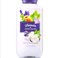 Bath and Body Works Lavender Spring Apricot Body Lotion 8 Ounce Full S