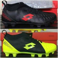 - Sepatu Bola Lotto Energia FG Jet Black Solar Red